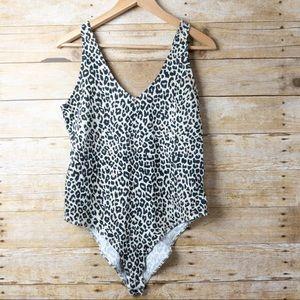 Wild Fable Leopard Cotton Blend Bodysuit